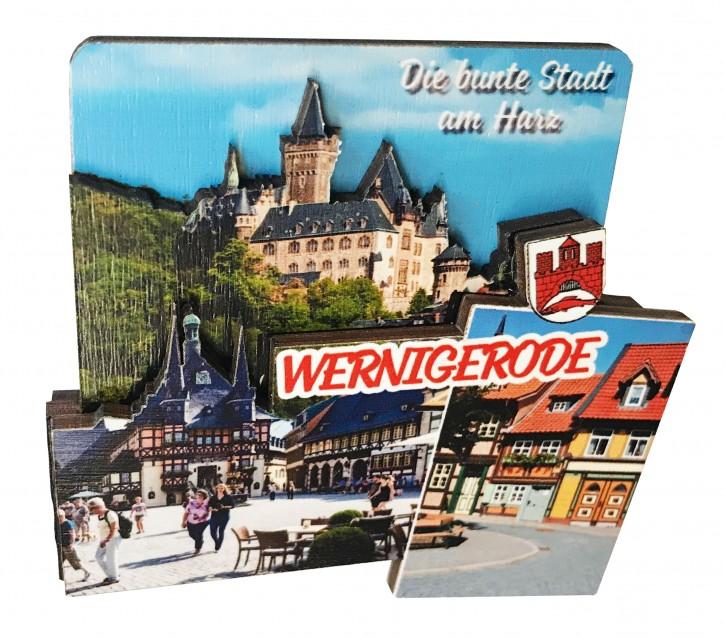 3-D Holzmagnet WERNIGERODE 3140
