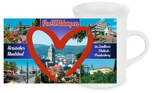Schlanke Keramiktasse Bad Wildungen T04