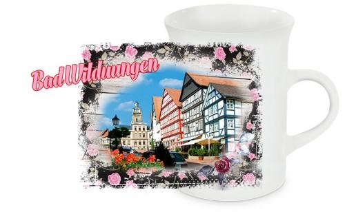 Schlanke Keramiktasse Bad Wildungen T06