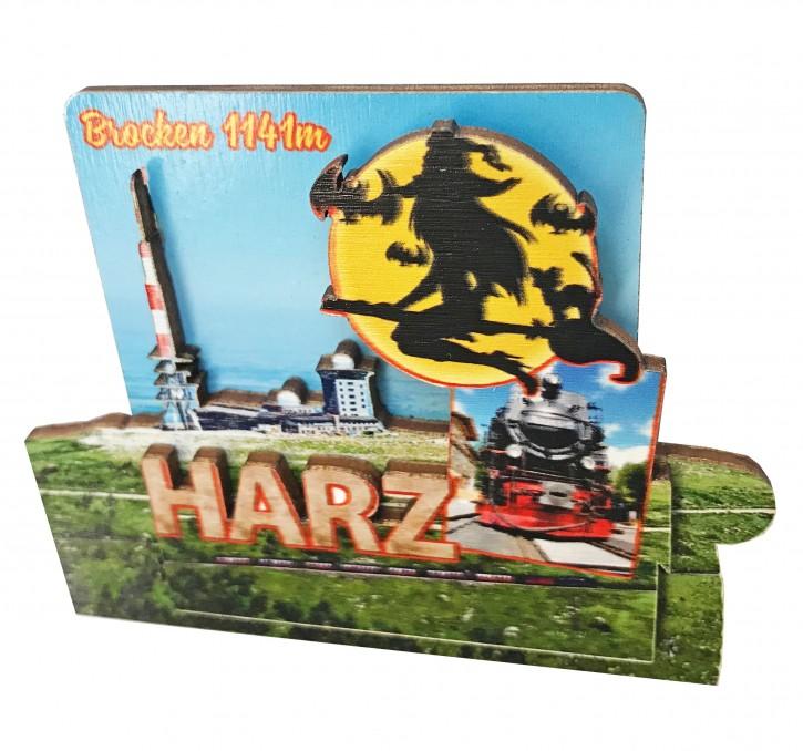 3-D Holzmagnet HARZ 855