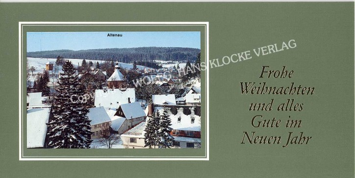 Weihnachtskarte ALTENAU W-001G