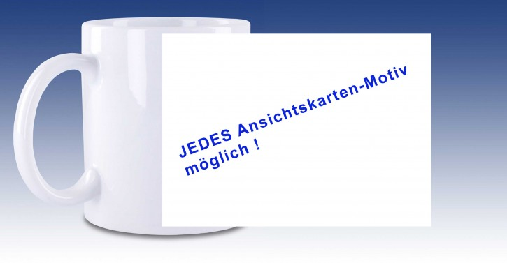 Keramik-Tasse Wunschmotiv