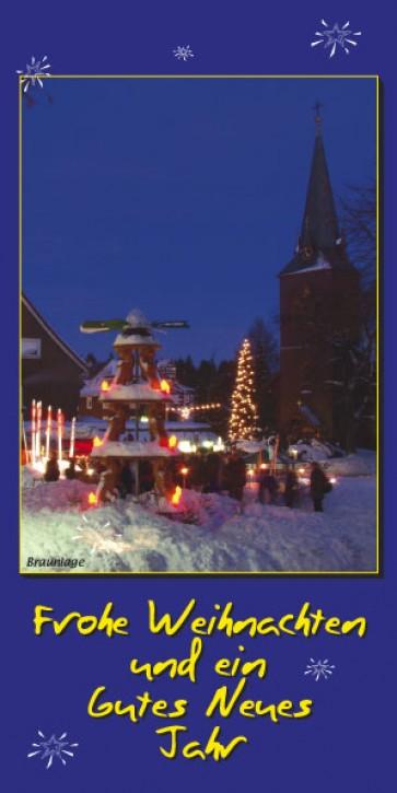 Weihnachtskarte BRAUNLAGE W-12