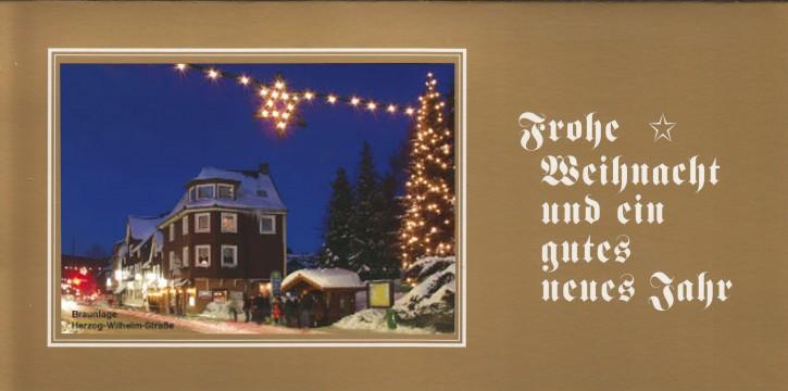 Weihnachtskarte BRAUNLAGE W-14-O