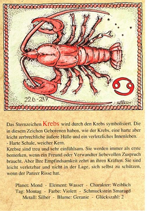 Sternzeichen-Postkarten Krebs 04
