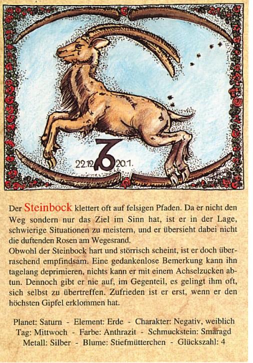 Sternzeichen-Postkarten Steinbock 10