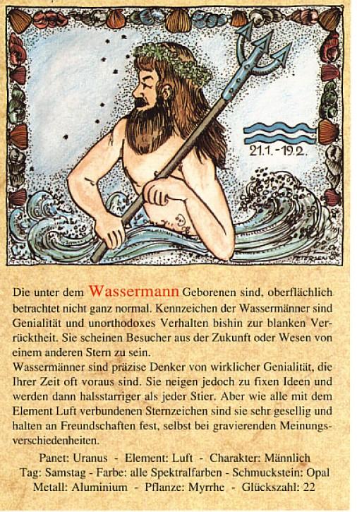 Sternzeichen-Postkarten Wassermann 11